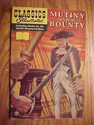 Classics Illustrated  #100 Mutiny On The Bounty  (Very Rare) No Number Or Price