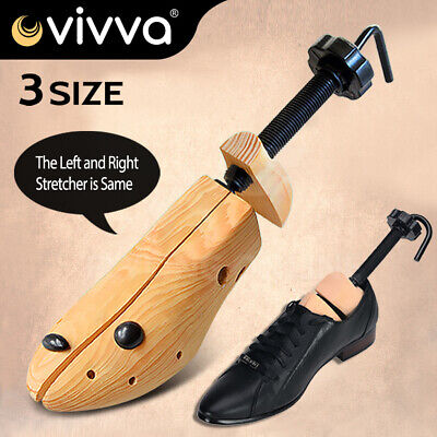 2-Way Adjustable Shoe Trees From Solid Wood Unisex Stretcher Pair Cedar Horn