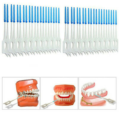 40Pcs Oral Teeth Care Interdental Floss Brushes Clean Dental Cleaning Tool UK