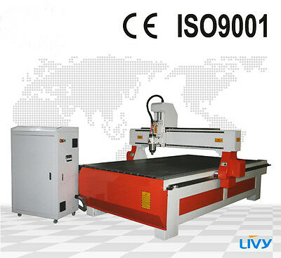 Promotion! 3KW Water Cooling Wood CNC Router Engraving Drilling Machine1300*2500