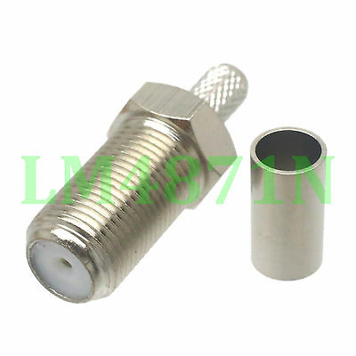 1pce Connector SMB jack pin window crimp RG58 RG142 LMR195 RG400 cable