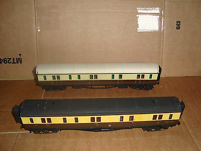 P4 gauge luggage coaches x 2 GWR