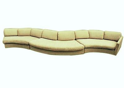 "190""L MILO BAUGHMAN CRAFT ASSOC SECTIONAL SOFA COUCH Loveseat Settee Mid Century"