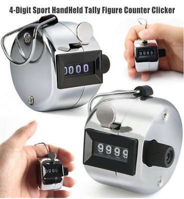1pc Golf Hand Held Tally 4-Digit Number Clicker Sport Counter Counting Recorder