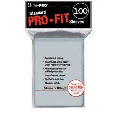 Ultra Pro Fit Standard Size Deck Protectors 100ct Inner Sleeve For Protection