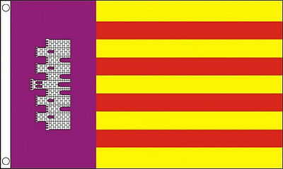 MALLORCA FLAG 5' x 3' Majorca Isles Spain Spanish Island Balearic Islands Flags