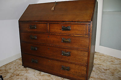 Georgian bureau / chest of drawers. Oak? Useful and good looking.