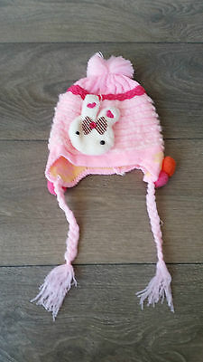 NEW W/O TAG Baby Toddler Girl Winter Beanie Pink RRP$39.95 Size 6 mth - 1 year