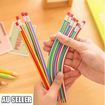 5pc x Soft Bendy Flexible Magic Pencils Fun Stationary School Children Kids Gift