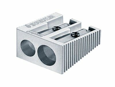 Staedtler Metal Sharpener, Double Hole for Pencils and Colored Pencils, 1-Each