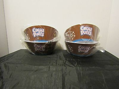Cocoa Puffs Cereal Bowls   General Mills   (Setof4) New