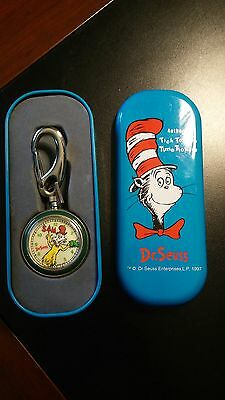 Dr. Suess Green Eggs and Ham pocket watch. Needs battery.