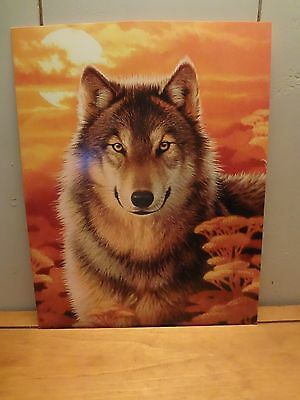 Wolf  11 x 14 Greeting Card/Frameable Print with Printed Envelope