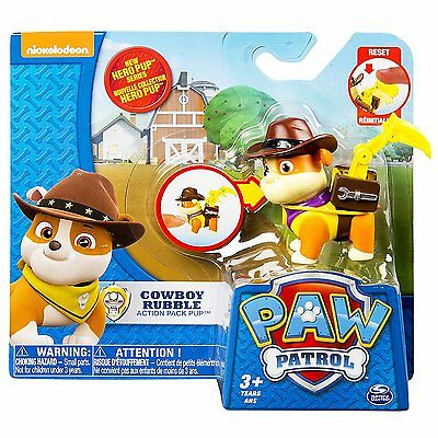 NEW Nickelodeon Paw Patrol Action Pack Hero Pup Cowboy Rubble