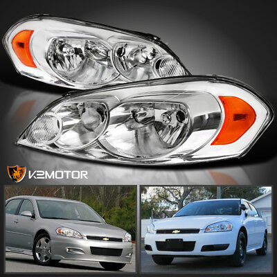 2006-2013 Chevy Impala 06-07 Monte Carlo Replacement Headlights Lamps Left+Right