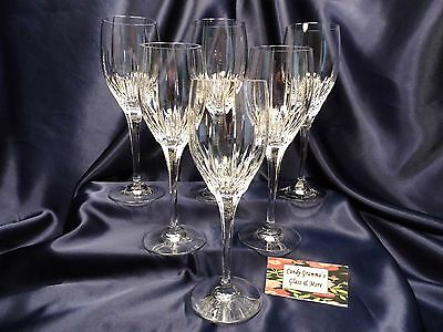 MIKASA Arctic Lights Crystal Water Glass Goblet Glass Set of Six