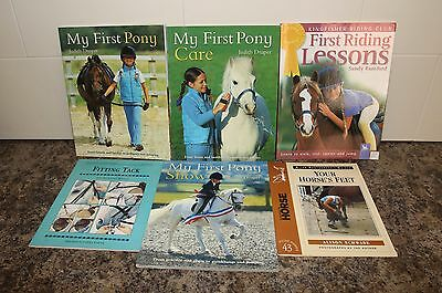 Horse Books x6 My First Pony Care Show First Riding Lessons Your Horse's Feet