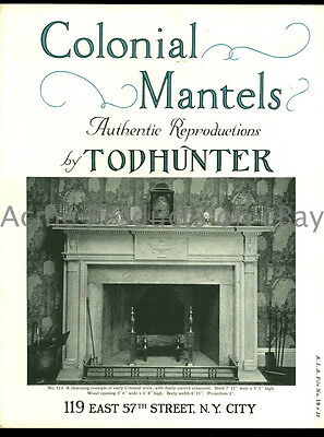 1929 TODHUNTER COLONIAL FIREPLACE MANTEL Catalog-Architectural Ornaments-UK-20pg