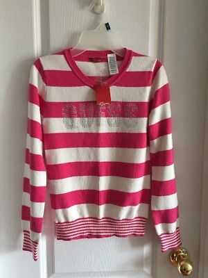NWT Guess Girl's Striped Sweater Size L (12-14)