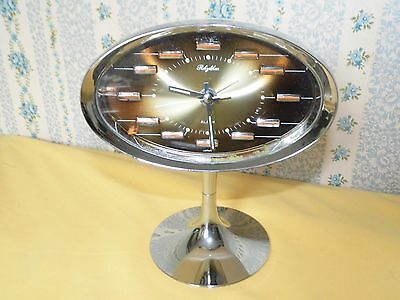 REVEIL RHYTHM DESIGN 70's JAPAN CLOCK déco loft collection fonctionne