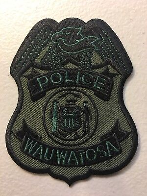 Wauwatosa Wisconsin Police Department Swat Subdued Patch Wi