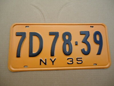 1935 New York license plate