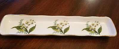 Hammersley Bone China Mint/Olive Tray Lily of the Valley