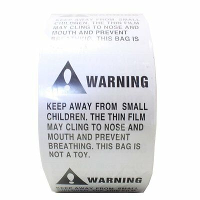 1 Roll 500 Labels 2 x 2 Suffocation Warning FBA approved Labels/Stickers