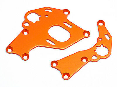 HPI Motor Mount Set (Left/Right/Orange) - Sprint 2 Drift
