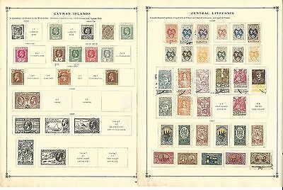 Ceylon, Cayman, Central Lithuania Collection on 9 Scott International Pages