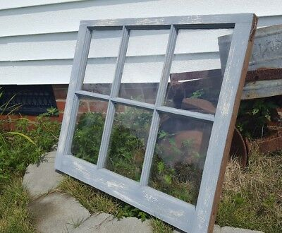 VINTAGE SASH ANTIQUE WOOD WINDOW PICTURE FRAME PINTEREST 36x28 GRAY DISTRESSED