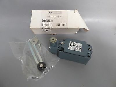 A Farnel Imo Fd535 Industrial Limit Switch With Adjustable Roller Head.
