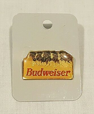 New Brass Vintage Anheuser Busch Budweiser Beer Clydesdales Hat Pin