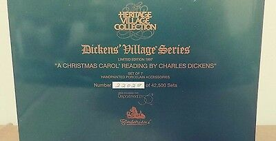 """Dept 56 """"A Christmas Carol' Reading by Charles Dickens"""" Set of 7"""