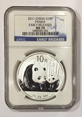 2011 China 1oz Silver Panda Early Releases NGC MS70