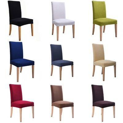 European Elastic Solid Kitchen Stretch Dinning Chair Cover Protector Slipcover