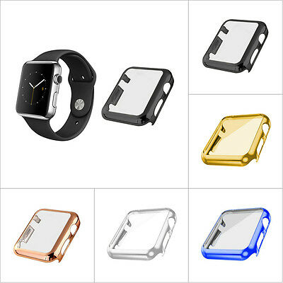 For Apple Watch 1/2 38/42mm Slim Full Body Cover Snap On Case Screen Protector