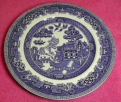 "Alfred Meakin (Old Willow - Blue)  9 7/8"" DINNER PLATE"