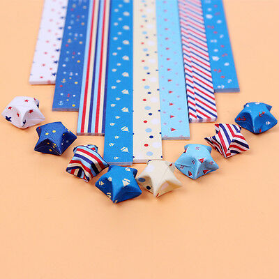 150 pieces - 8 color comb ORIGAMI LUCKY STAR PAPER - Navy