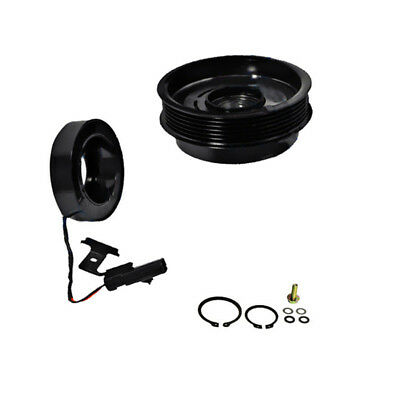 AUTO AC COMPRESSOR+CLUTCH Coil Kit Pulley Plate For Jeep Cherokee TJ  Wrangler ZB