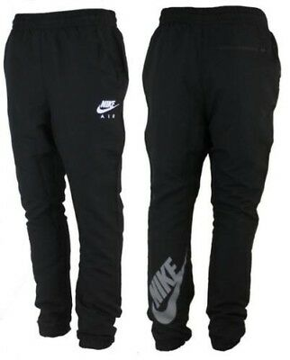 Nike Air black slim fit tapered NKT24 fitness cuffed tracksuit pant bottoms