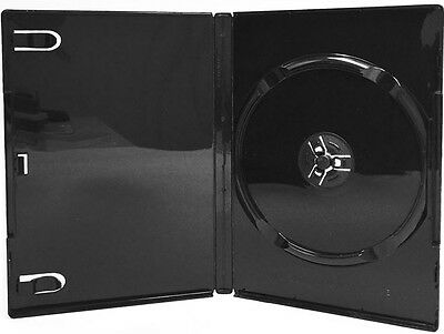 100 New Single Black DVD CD Cases, Glossy, Standard 14mm, Professional Use, SV