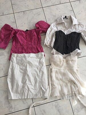 Bebe Used Clothing Lots 4 Professional Blouse Top Skit Sz XXS XS 00