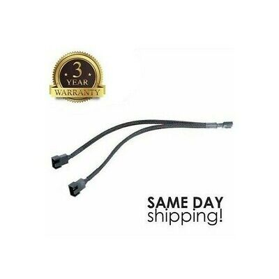 30cm 3/4 Pin PWM To Dual PWM Power Y-Splitter Adapter Cable for CPU PC Case Fan