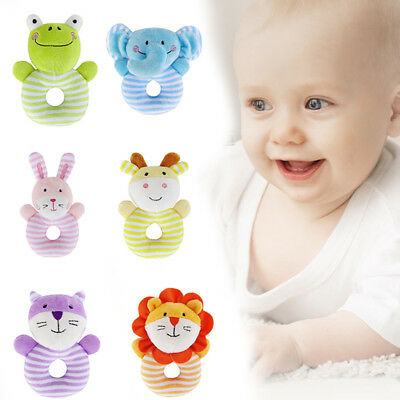 Funny Baby Rattle Toy Infant Kids BB Plush Toys Doll Educational Hand Bell Gift