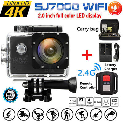Waterproof 16MP HD 1080P WIFI 2.0'' Action Camera Sports DVR Camcorde+Remote+Box