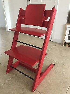Red Stokke Tripp Trapp high chair