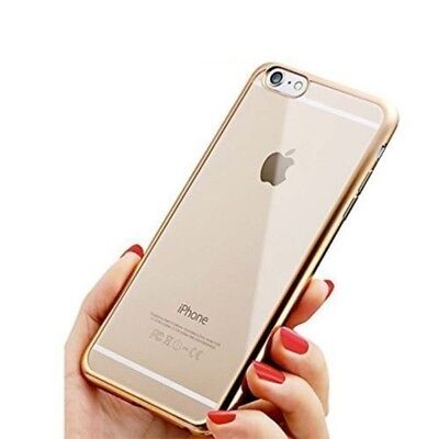 New Thin Electroplated Thin Clear Case Soft Cover For iPhone 5 5s-Gold {du217
