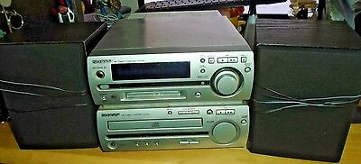 Sharp MD-MX10H Hi-Fi System with CD Player/MD Recorder/FM Tuner/Amplifier
