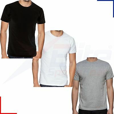 Mens 100% Cotton Assorted Short Sleeve T Shirts- 3 Pack - S, M, L, XL or 2XL